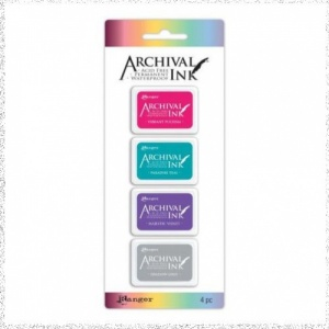 Archival Mini Ink Pad Kit 4