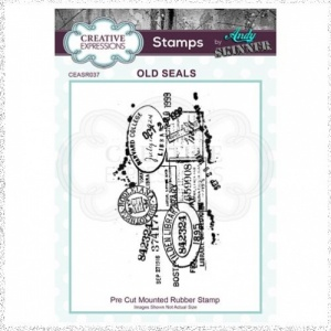 Creative Expressions Andy Skinner Old Seals 4 in x 2.25 in Rubber Stamp