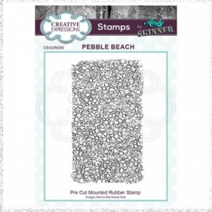Creative Expressions Andy Skinner Pebble Beach 2.75 in x 4.75 in Rubber Stamp