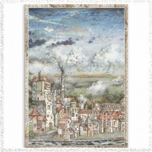Stamperia A4 Rice Paper Sir Vagabond Cityscape