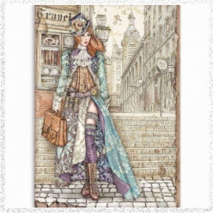 Stamperia A4 Rice Paper Lady Vagabond