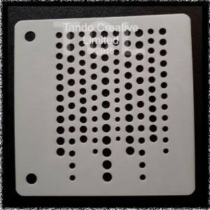 Mini Stencil - Dot Stream
