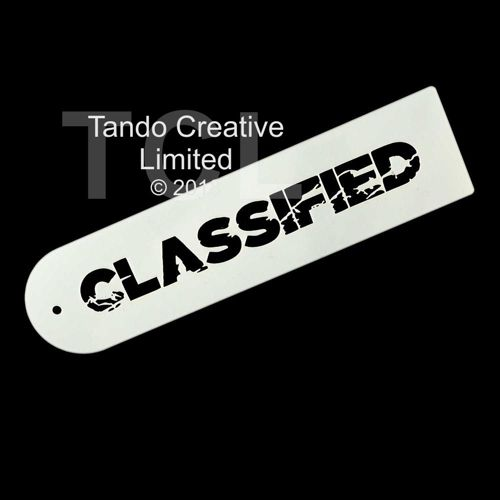 Stencil 260mm x 65mm: CLASSIFIED