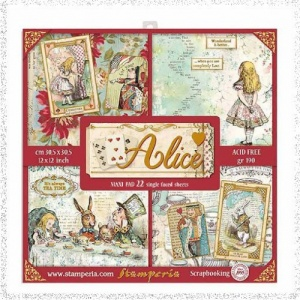 Stamperia Scrapbooking Pad 22 Sheets 30.5×30.5 cm (12″x12″) Alice