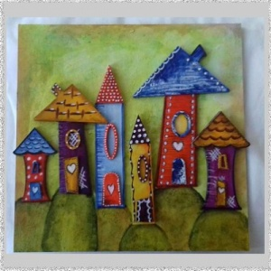 Whimsical Houses set 1