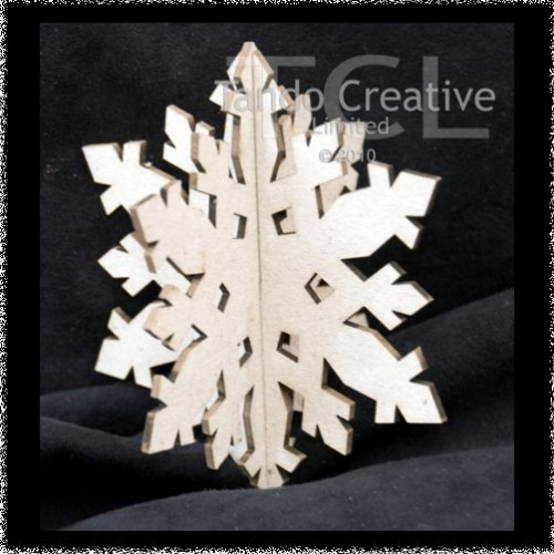 3D Snowflake style 1