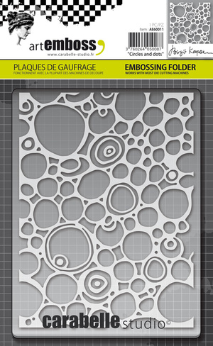 Carabelle Studio Circles and Dots A6 Embossing Folder