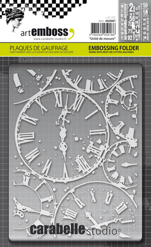 Carabelle Studio Horloges A6 Embossing Folder