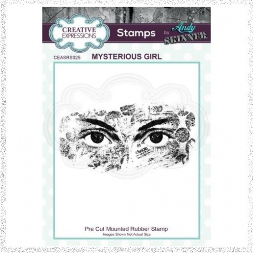 Creative Expressions Andy Skinner Mysterious Girl 1.9 in x 3.9 in Rubber Stamp