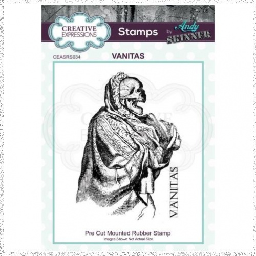 Creative Expressions Andy Skinner Vanitas 2.9 in x 2 in Rubber Stamp