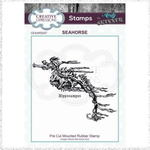 CE Rubber Stamp by Andy Skinner Seahorse