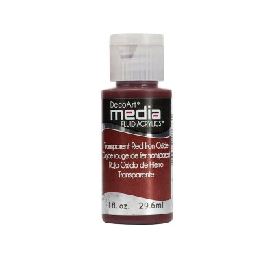 Fluid Acrylics: Transparent Red Iron Oxide