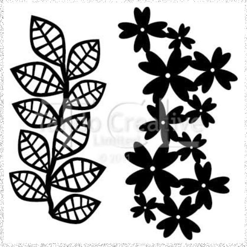 Stencil/Mask: Leaves set of 2