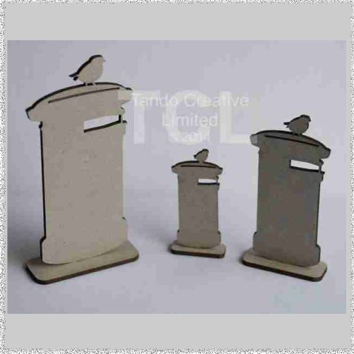 Post Boxes standing, set of 3