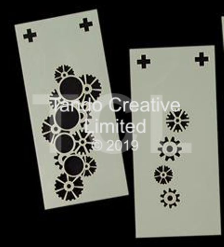 Layering Stencils: 2 Part Cogs