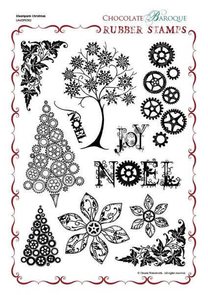 Chocolate Baroque: Steampunk Christmas UNMOUNTED A4