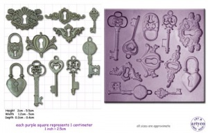 Artyco Steampunk Locks, Keys & Keyplates Mould