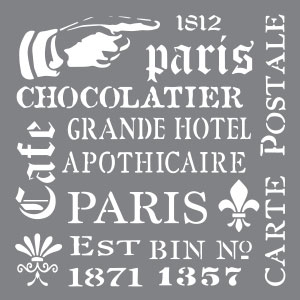 A Skinner Stencil - FRENCH ELEMENTS