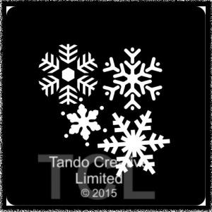 Mini Stencil - Snowflakes
