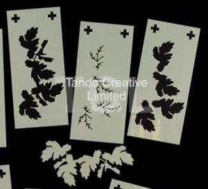 Layering Stencils: 3 Part Vine