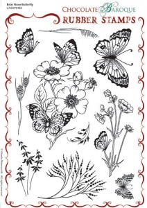 Chocolate Baroque: Briar Rose Butterfly UNMOUNTED A5 - A5