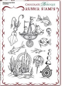 Chocolate Baroque: Steampunk Sea World UNMOUNTED A5